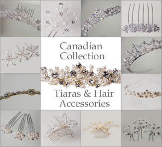 Canadian Tiaras & Hair Accessories at The Wedding Accessories Boutique - including Tiaras, Hairpins, Headdresses, Hairbands. Matching Jewellery available for many Tiaras