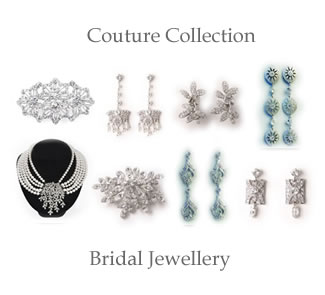 Couture Wedding Jewellery at The Wedding Accessories Boutique - Every piece is originally designed, the hand made collection is made using only the finest components