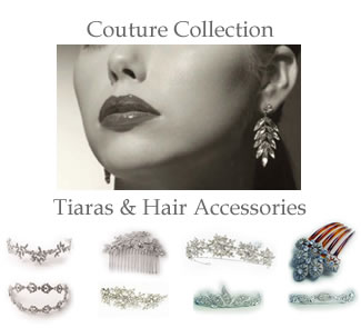 Couture Tiaras & Hair Accessories at The Wedding Accessory Boutique - Every piece is originally designed, the hand made collection is made using only the finest components from, Swarovski crystals and pearls and rhodium non-tarnishing bases.