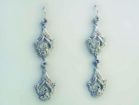 Hayworth Earrings - Bridal / Evening Wear - Couture Jewellery Collection from the Wedding Accessory Boutique