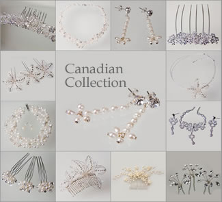 Canadian Wedding Jewellery at The Wedding Accessories Boutique - including Necklaces & Earrings. Also matching Tiaras, Hairpins, Headdresses, Hairbands.
