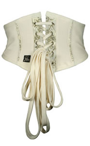Exclusive Made By Niki Limited Edition Hand Made Corset with Removable Rosary - Quality wedding accessories available from online shop of The Wedding Accessory Boutique