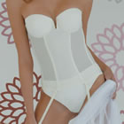 Bridal Lingerie Set 6 - Beautiful Italian Designer Bridal Lingerie - Available from online shop of The Wedding Accessory Boutique - Bridal Lingerie Set 6 - Beuatiful white Corset - well suited to Ball Gown Style of Wedding Dress