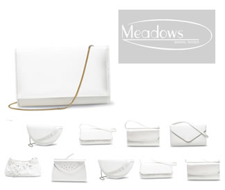 Meadows Bridal Handbags - Wedding & Evening Bags including Rose, Gem, Crystal, Jean, Tiffany, Abby and Nikki - Shoulder & Clutch Bags